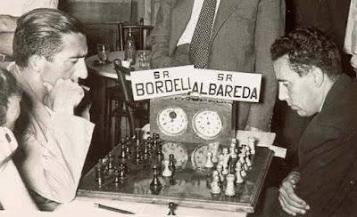 Partida de ajedrez Albareda - Bordell, La Pobla de Lillet, 1958