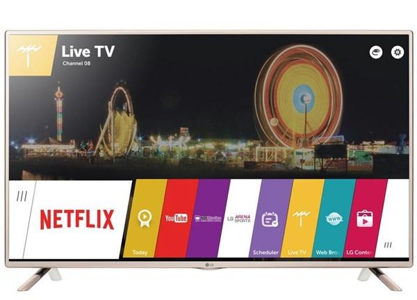 Smart TV LG de 32 polegadas com conexões HDMI e USB