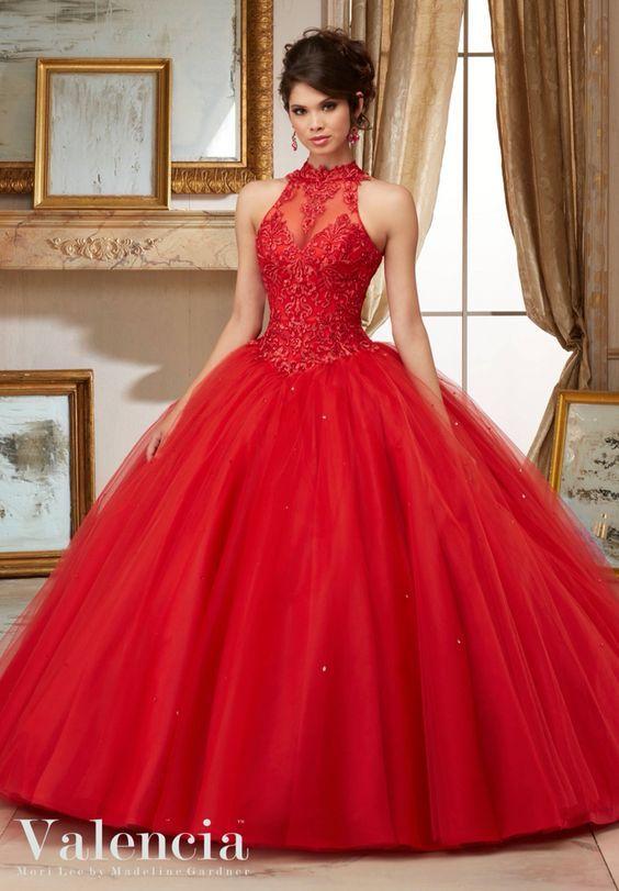 Vestidos de 15 años rojo