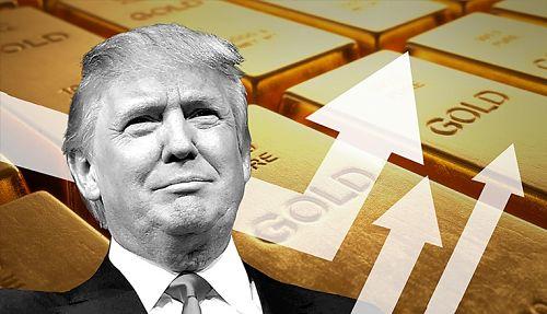 Precio del oro sube por Donald Trump