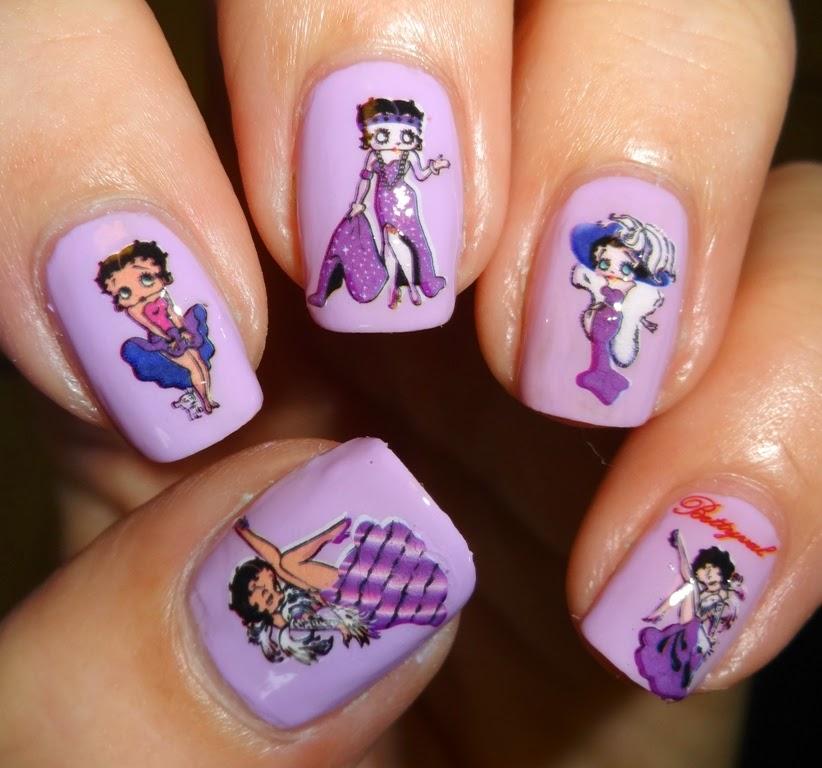 Betty Boop Nails: Wendy's Delights: KKCenterHk Gorgeous Betty Boop Water
