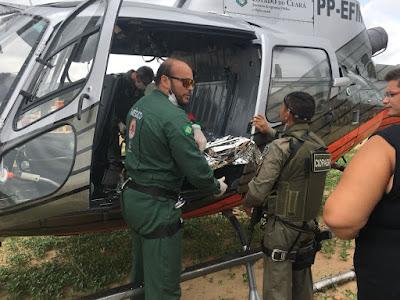 Ciopaer realiza transporte aeromédico de paciente do Cariri com tumor