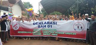 Goyang Jempol, Warnai Dukungan Relawan SAH 01 Untuk Jokowi - Amin