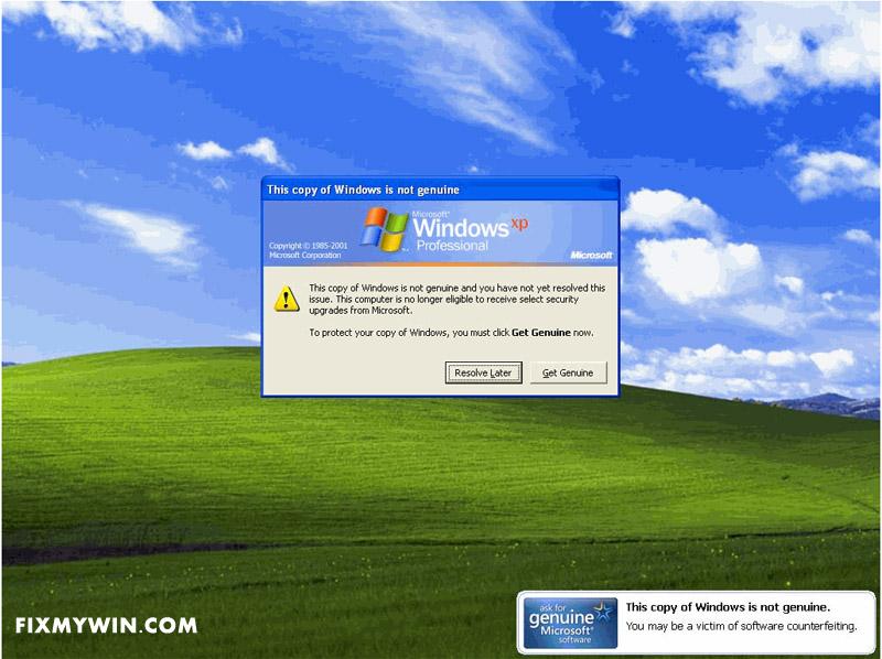 windows genuine software