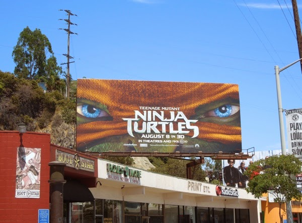 ninja Turtles movie remake billboard