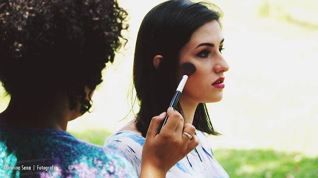 Maquiagem feita por Larissa Antonelli