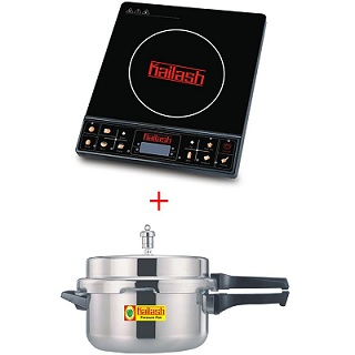 Kitchen Super Saver Combo: Kailash-Induction Cooktop Just Press + 3 Ltr Pressure Cooker (1 Yr Warranty) just for Rs.2249 Only