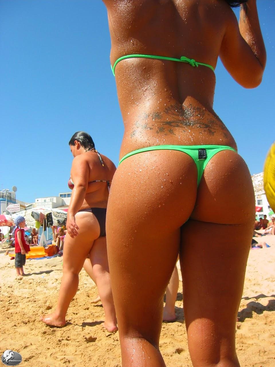Increíble burbuja de brasil en bikini tanga 5