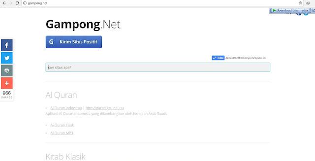 Gampong.net, kumpulan situs positif
