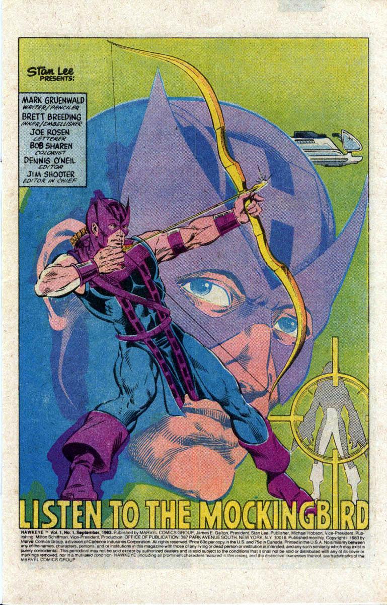 Hawkeye (1983) Issue #1 #1 - English 2