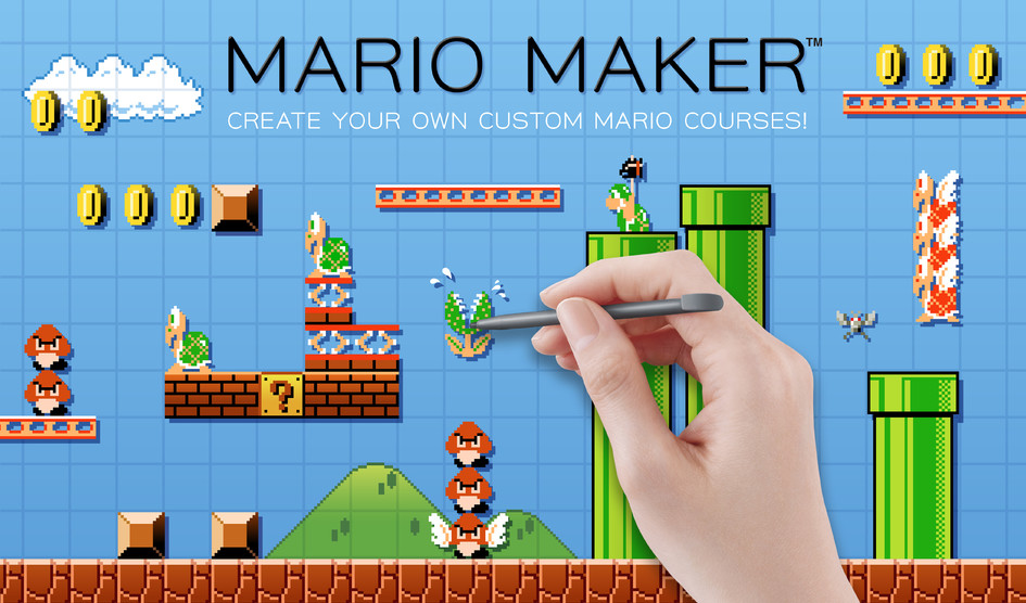 super mario maker out now for wii u make your own mario levels and
