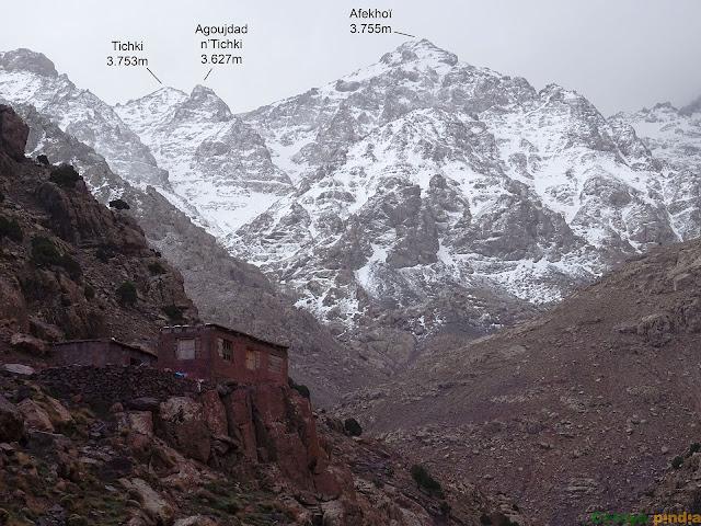 aldeas en el camino del Refugio del Toubkal