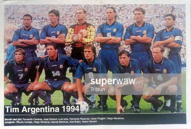 ARGENTINA TEAM SQUAD 1994