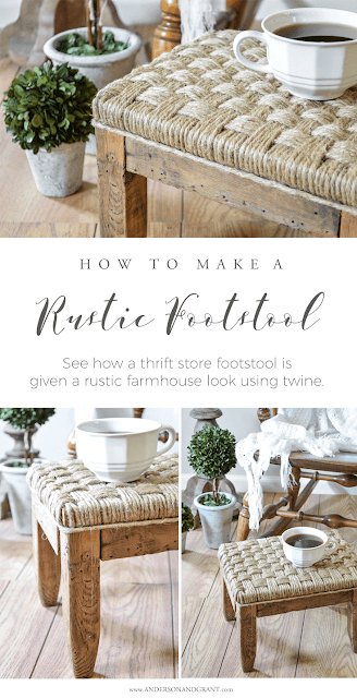How to Make Rustic Twine Footstool