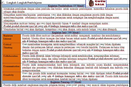 Download Contoh RPP K13 1 Lembar PAI-BP SMA Kelas 10 11 12 Revisi Terbaru 2020
