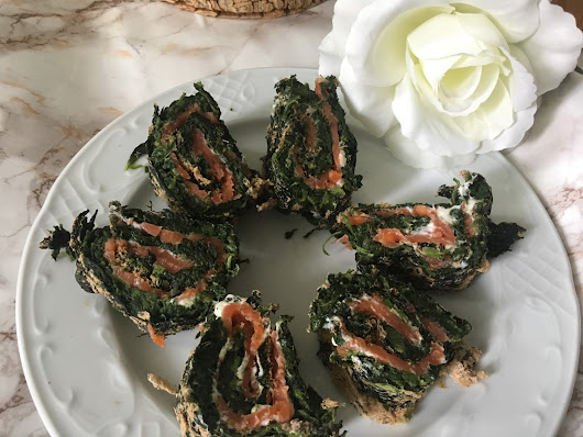 Low Carb Spinat Lachs Rolle