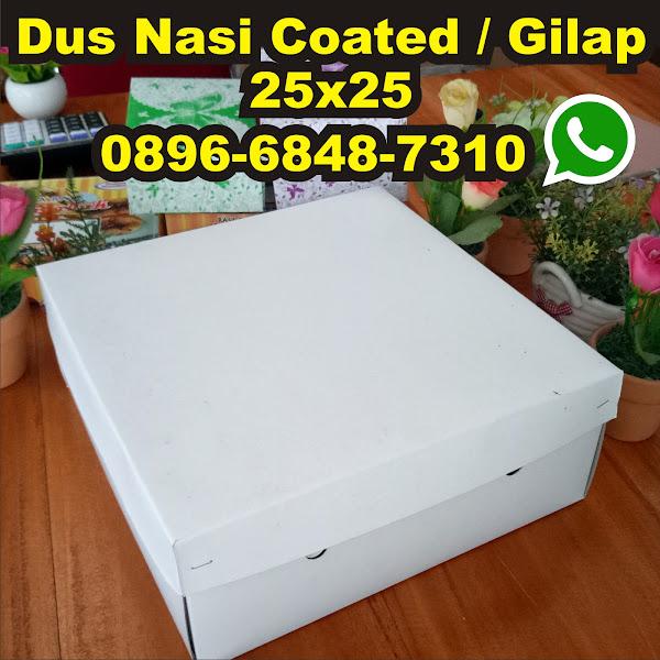 kardus nasi kotak gilap putih coated 25