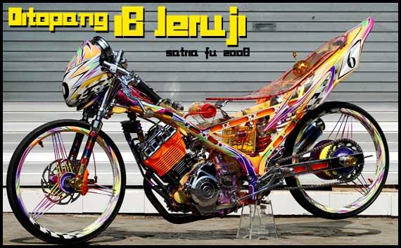 Motor Drag Race Balap Drag Liar Suzuki Satria F 150