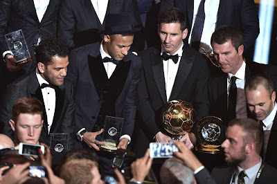 1B - Lionel Messi wins Ballon d'Or for fifth time - more pictures