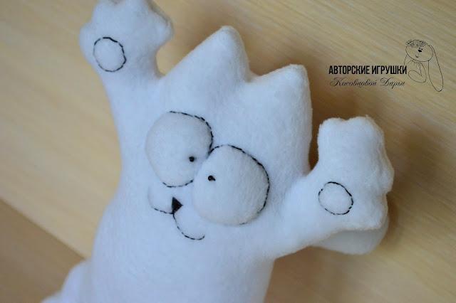 кот Саймона, текстильная игрушка кот Саймон, кот Саймон из флиса, кот из флиса