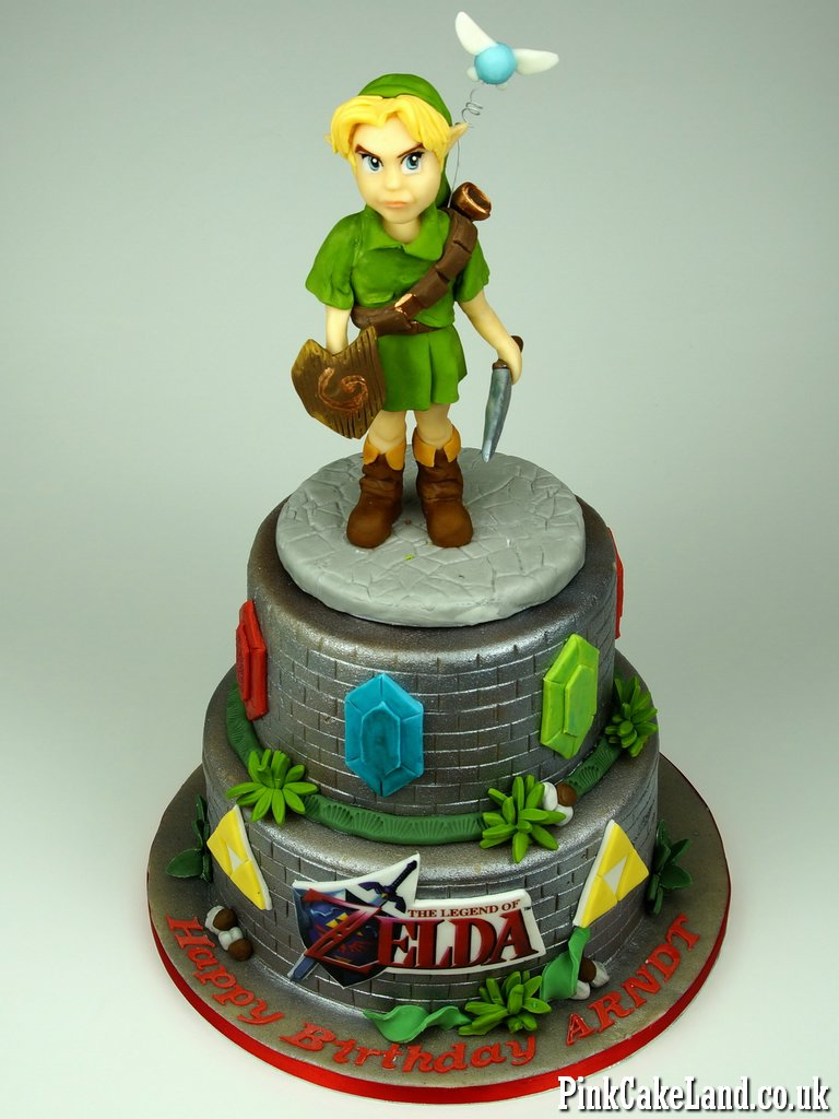 Wondrous Birthday Cakes Cakes Zelda Birthday Cake London Funny Birthday Cards Online Elaedamsfinfo
