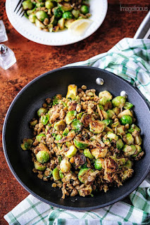 vegetarian lentil and brussel sprouts recipe