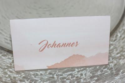 Tischkarten Peach & Pastell, Pfirsich, Rosa und Pastell, Sommerhochzeit im Riessersee Hotel Garmisch-Partenkirchen, Bayern, Wedding in Bavaria, Germany, lake side summer wedding