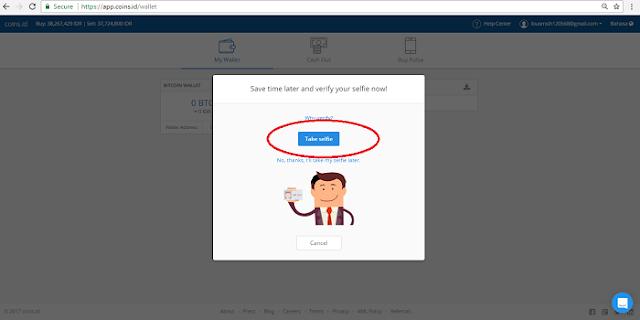 Cara melakukan verifikasi selfie + ktp di App.coins.idA