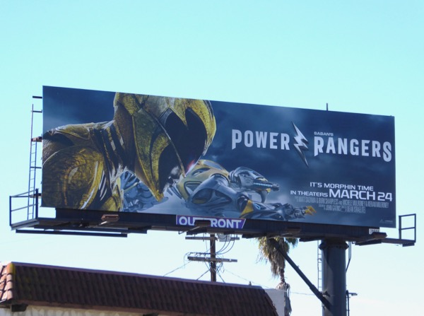Power Rangers Yellow Ranger billboard