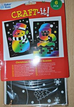 Christmas Scratch Art Scenes from baker ross review