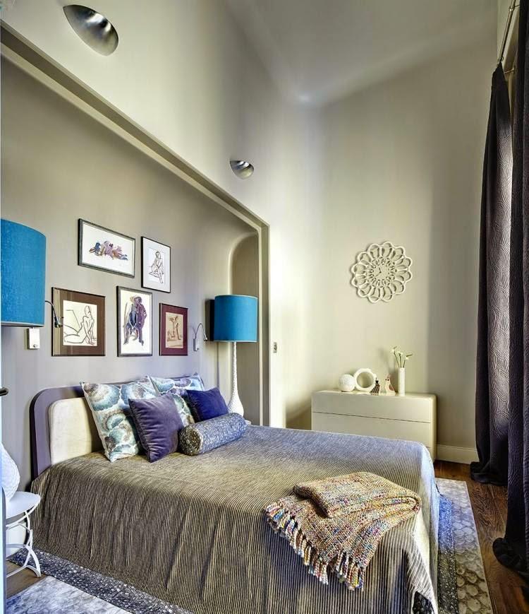 Dormitorios con paredes decoradas dormitorios colores y - Color paredes dormitorio ...