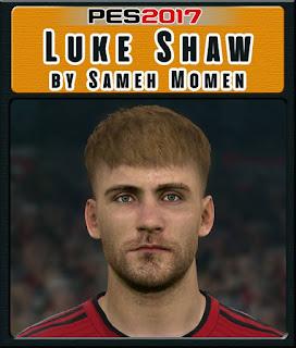 PES 2017 Faces Luke Shaw by Sameh Momen