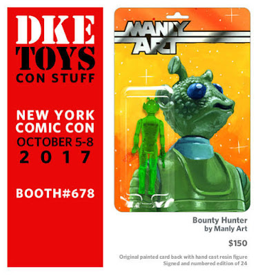 New York Comic Con 2017 Exclusive Bounty Hunter Star Wars Resin Figure by Manly Art x DKE Toys