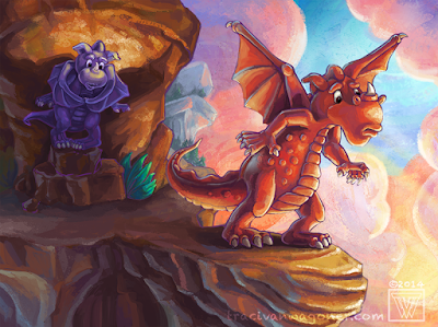 dragon illustration for children's book by Traci Van Wagoner