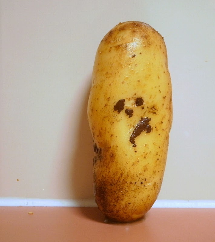 Potatoe with a funny face