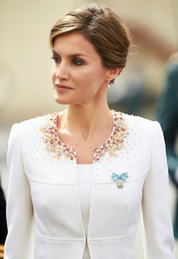 Queen Letizia Attends A ceremony Held In Honour Of The Spanish Guardia Civil