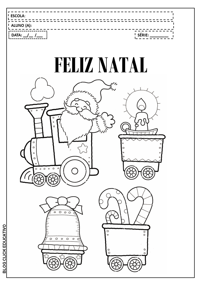Atividades De Natal Para Imprimir E Colorir Clicks Educativos