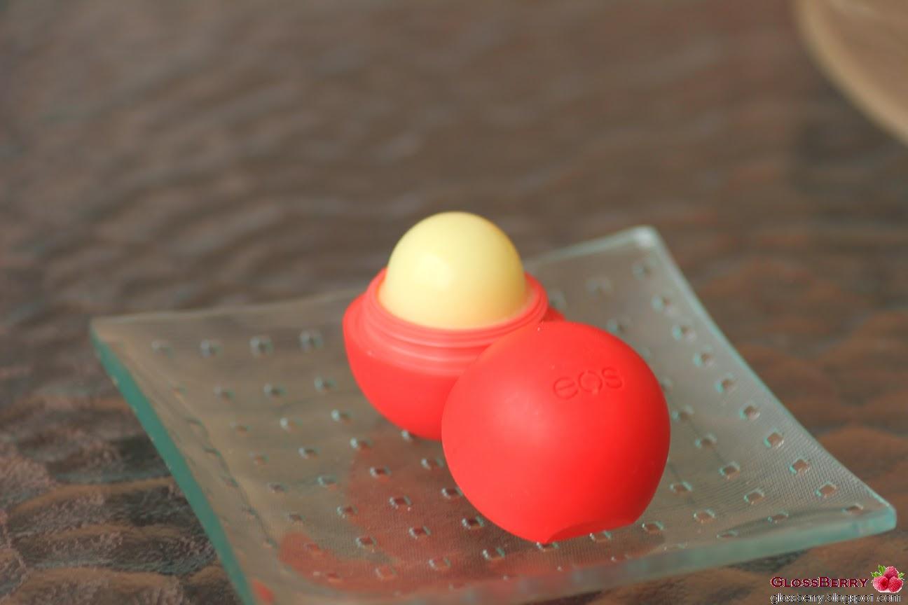 ביצת ליפ באלם לשפתיים Evolution of Smooth Lip Balm EOS summer fruit אדום