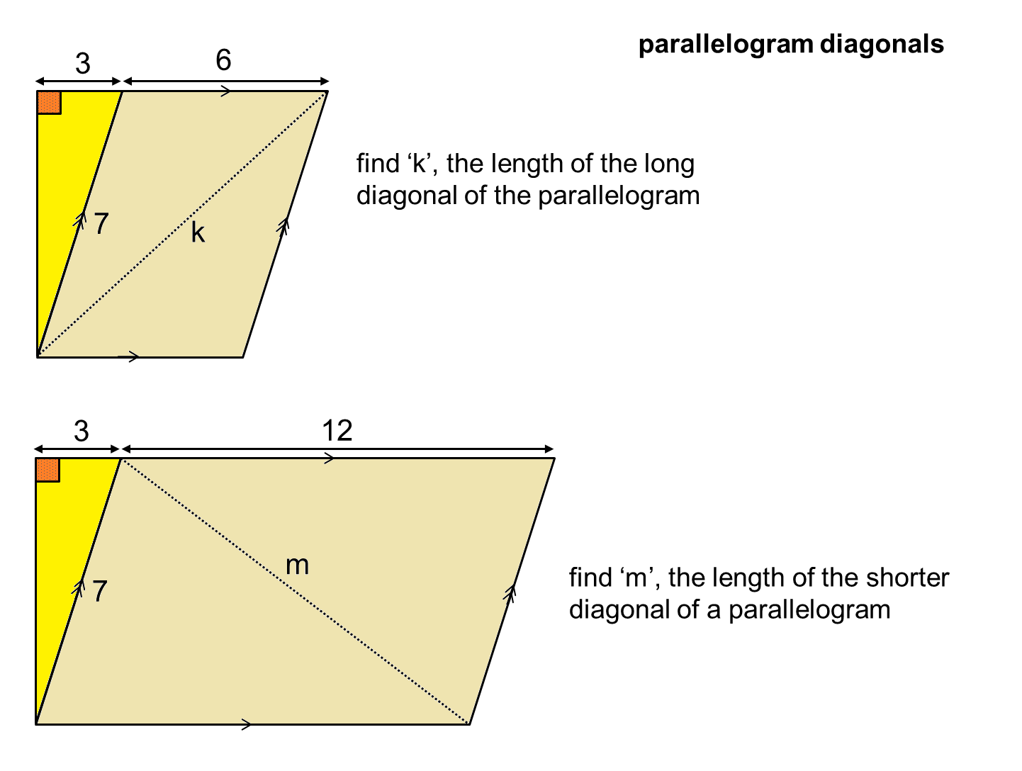 Median Don Steward Mathematics Teaching Two Diagonals