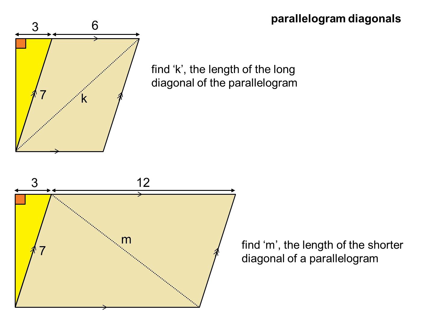 Median Don Steward Mathematics Teaching Two Diagonals
