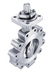 Triple offset butterfly valve for industrial process control