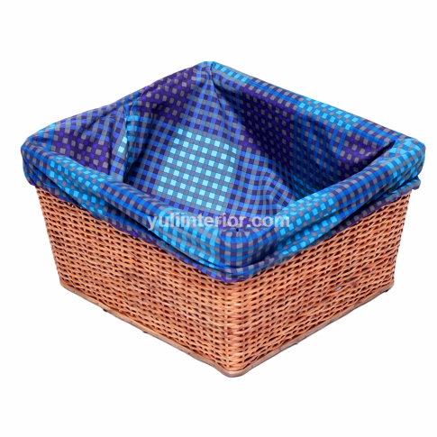 Multi-purpose Cane Woven Basket with Lining for Storage, Laundry in Port Harcourt Nigeria