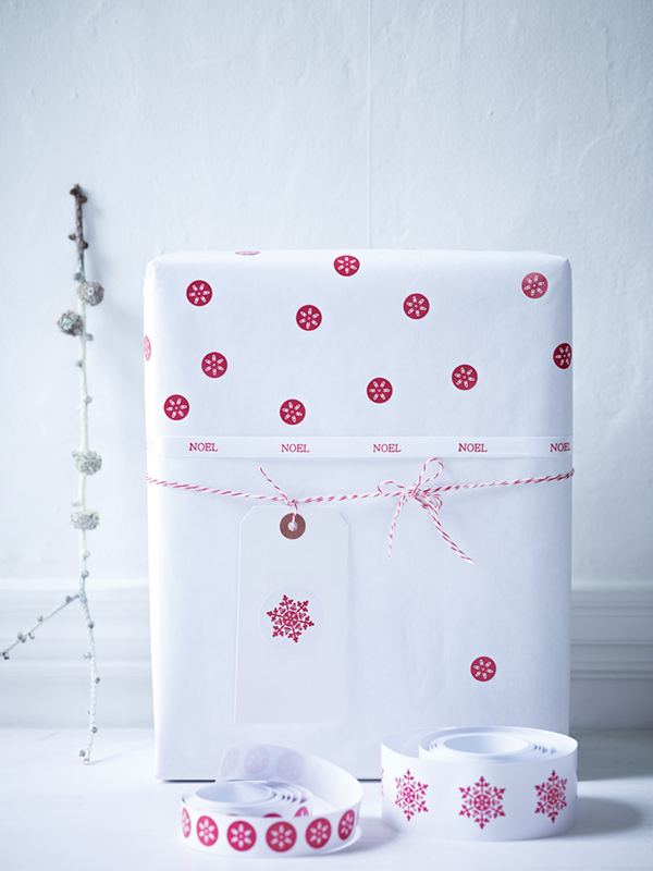 double sided gift wrap and stickers from gift wrap