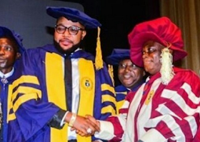 Photos: E-Money Receives Honorary Doctorate Degree From UNILAG