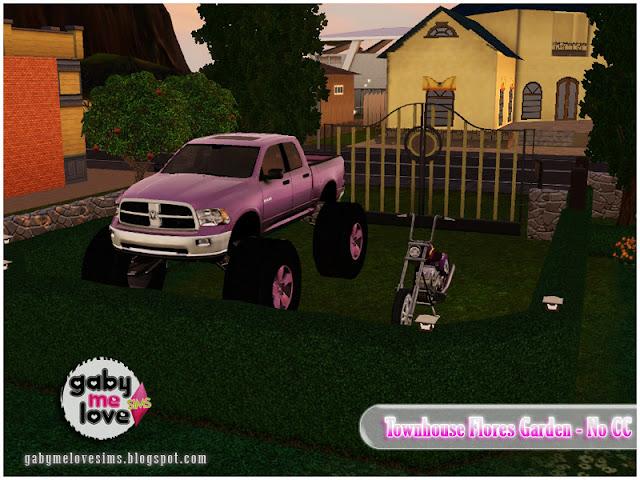 Townhouse Flores Garden |NO CC| ~ Lote Residencial, Sims 3. Estacionamiento.