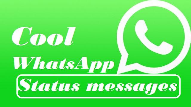 cool whatsapp status messages, funny whatsapp status message ideas,short status messages for whatsapp, funny whatsapp status messages