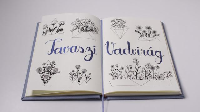 Bullet Journal doodles - wildflower, vadvirág