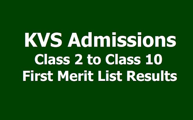 KVS admissions 2019 Class 2 to Class 10 First Merit List Results to be released at kvsonlineadmission.in
