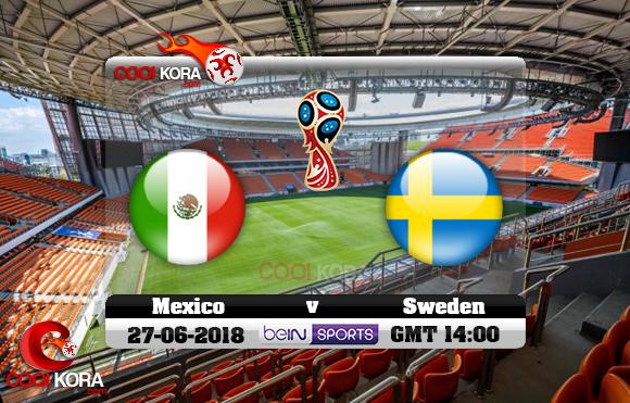 مشاهدة مباراة المكسيك والسويد اليوم 27-6-2018 بي أن ماكس كأس العالم 2018