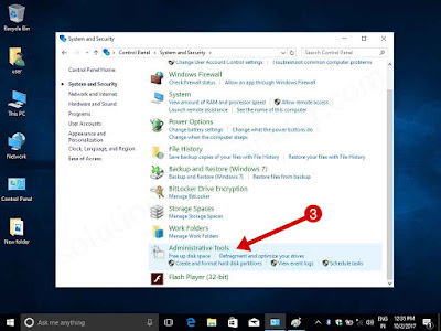 open Administrative Tools in windows 10